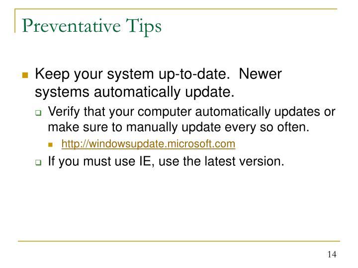 Preventative Tips