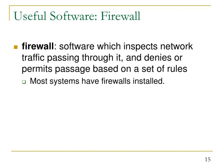 Useful Software: Firewall