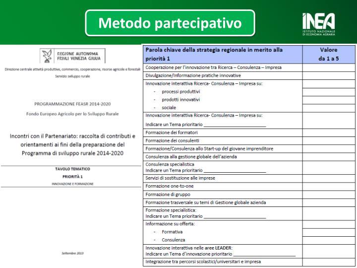 Metodo partecipativo