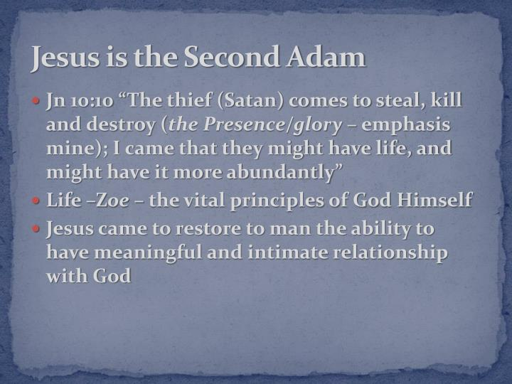 Jesus is the Second Adam