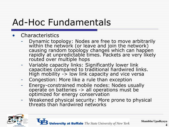 Ad-Hoc Fundamentals