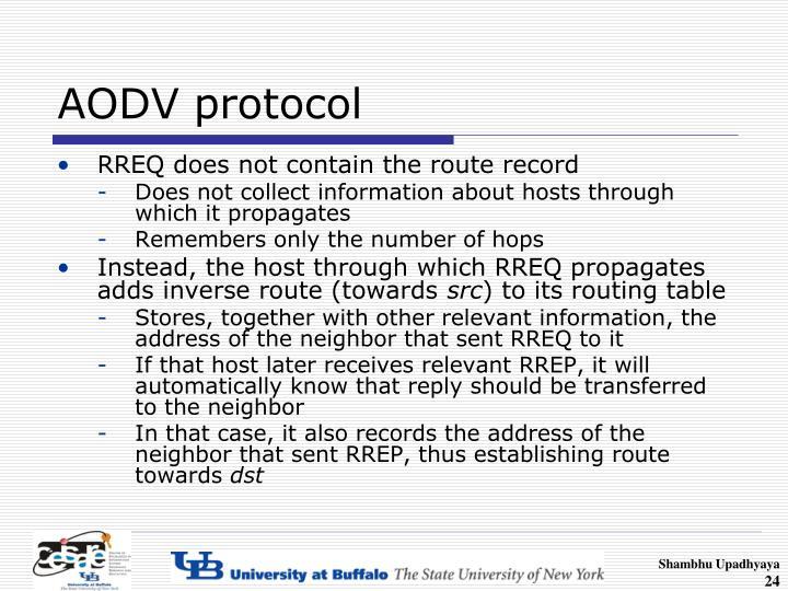 AODV protocol