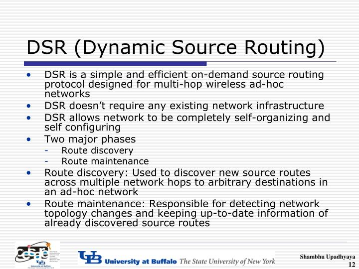 DSR (Dynamic Source Routing)
