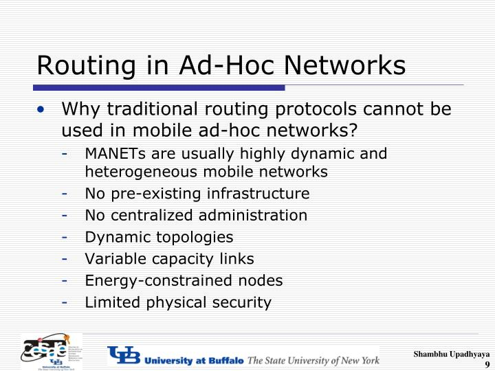 Routing in Ad-Hoc Networks