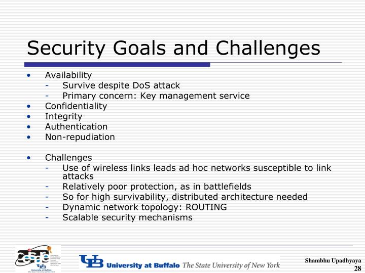 Security Goals and Challenges
