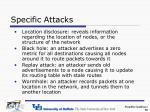 specific attacks