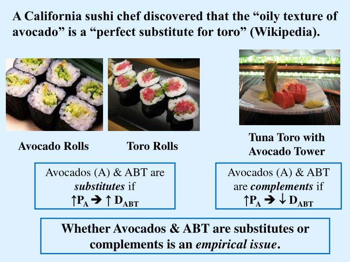 "A California sushi chef discovered that the ""oily texture of avocado"" is a ""perfect substitute for"