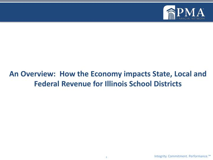 An Overview:  How the Economy impacts State, Local and Federal Revenue for Illinois School Districts