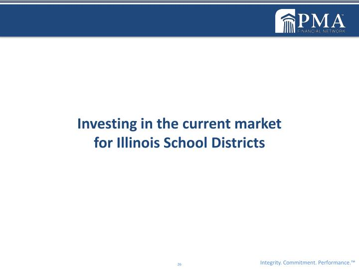 Investing in the current market                                                for Illinois School Districts