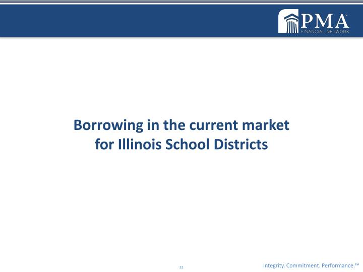 Borrowing in the current market                                                for Illinois School Districts