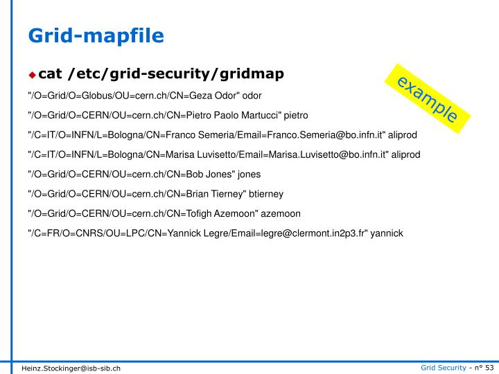 Grid-mapfile