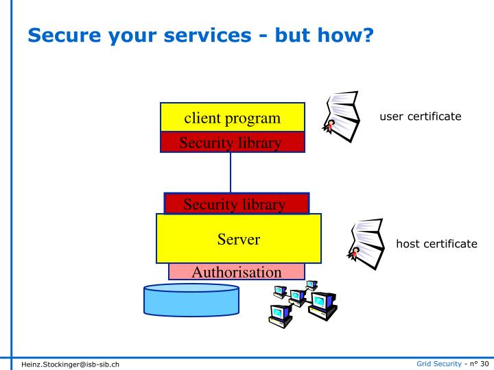 Secure your services - but how?