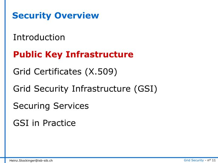 Security Overview