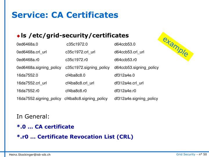 Service: CA Certificates