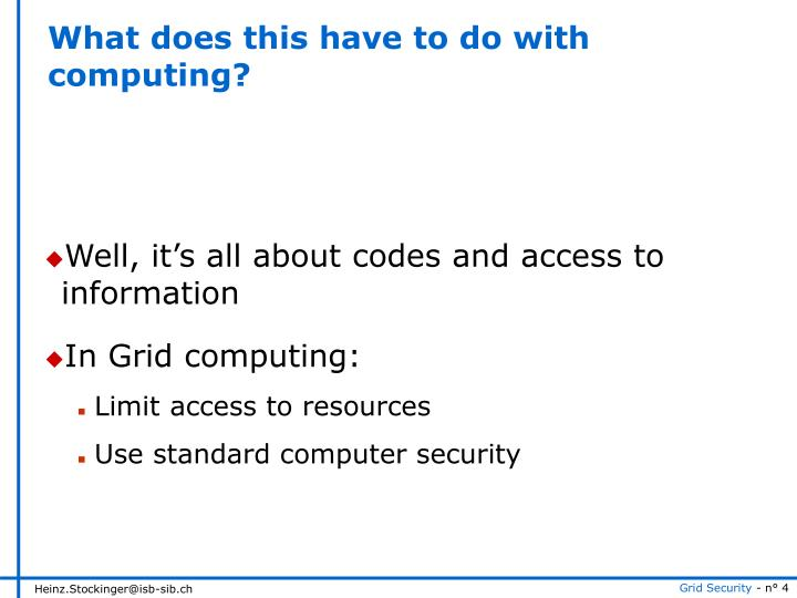What does this have to do with computing?