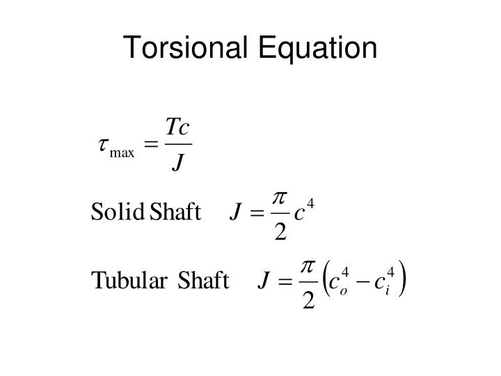 Torsional Equation