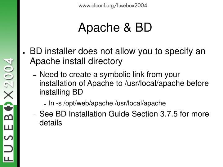Apache & BD