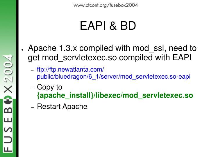 EAPI & BD