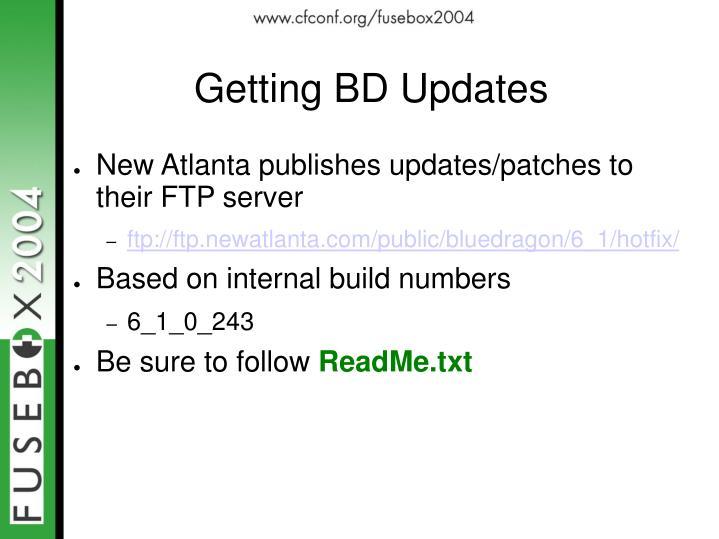 Getting BD Updates