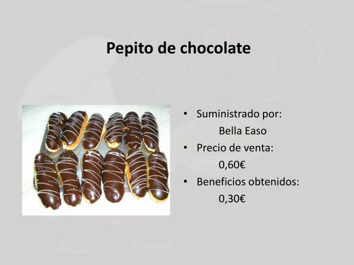 Pepito de chocolate