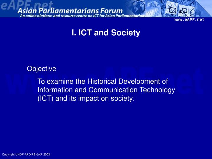 I ict and society