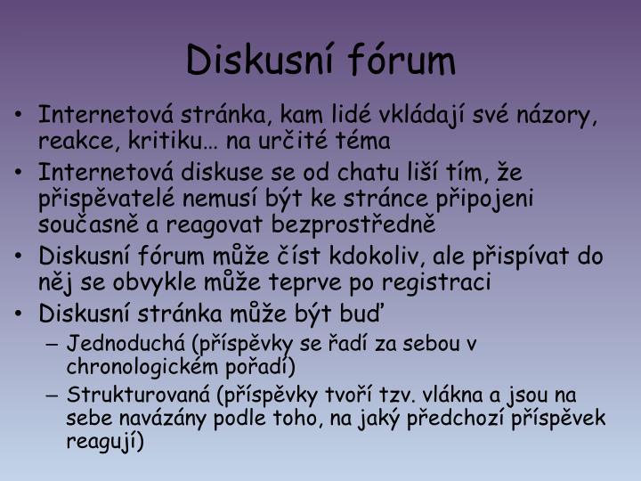 Diskusní fórum