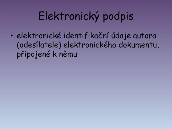 Elektronický podpis
