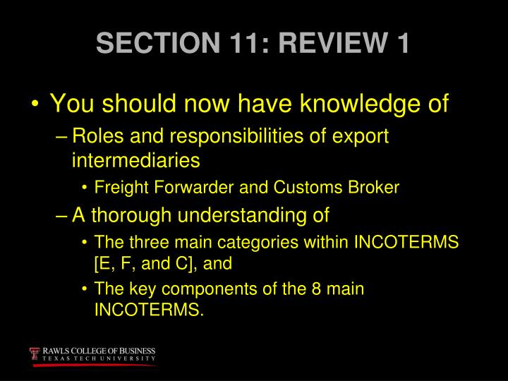 SECTION 11: REVIEW 1