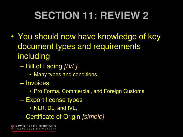 SECTION 11: REVIEW 2