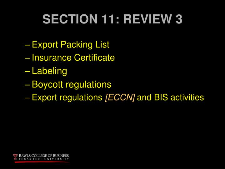 SECTION 11: REVIEW 3
