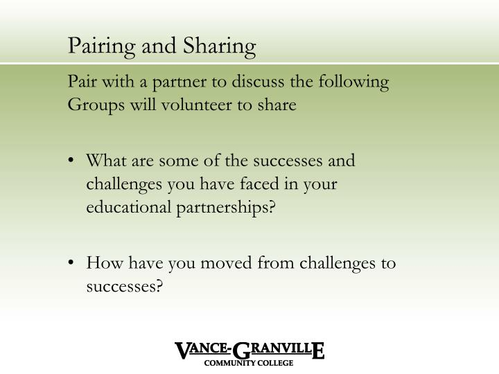 Pairing and Sharing