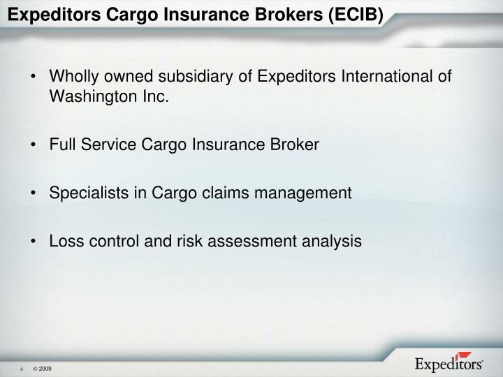 Expeditors Cargo Insurance Brokers (ECIB)