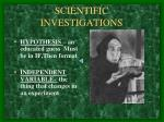 scientific investigations4