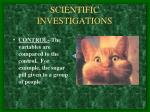 scientific investigations6