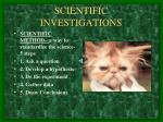 scientific investigations7