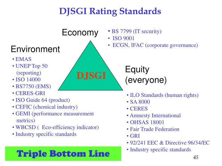 DJSGI Rating Standards