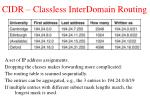 cidr classless interdomain routing
