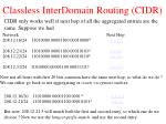 classless interdomain routing cidr