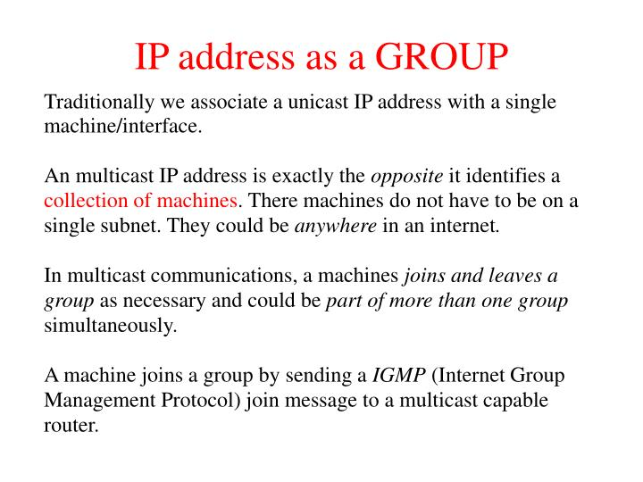 IP address as a GROUP