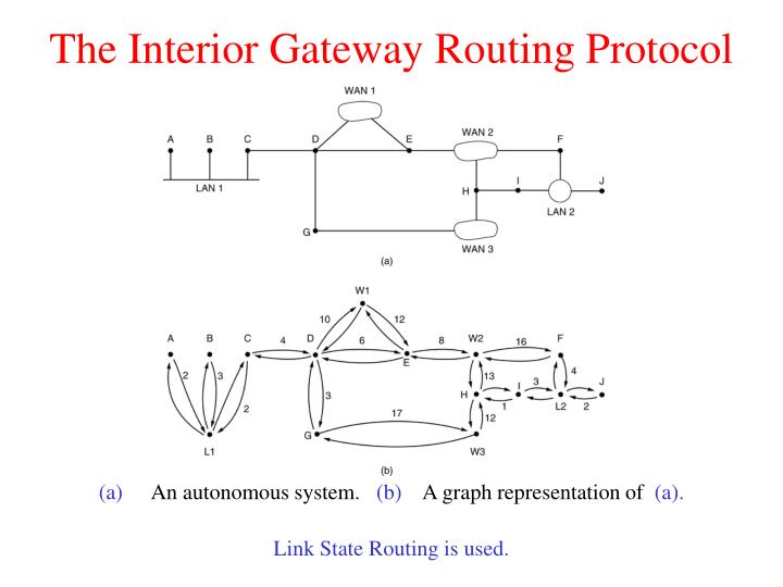 The Interior Gateway Routing Protocol