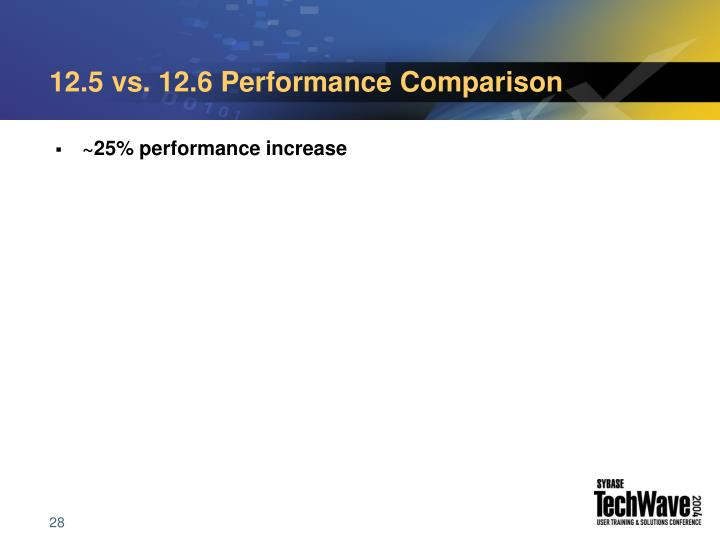 12.5 vs. 12.6 Performance Comparison