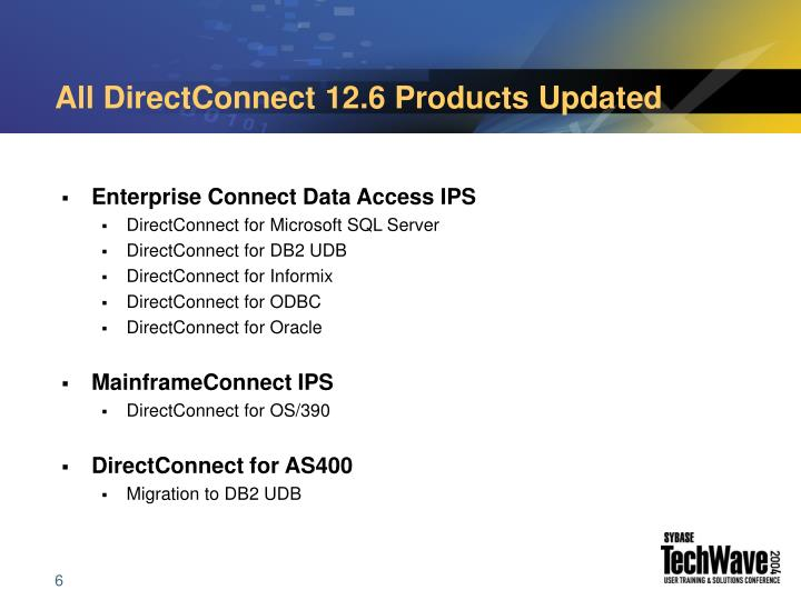All DirectConnect 12.6 Products Updated
