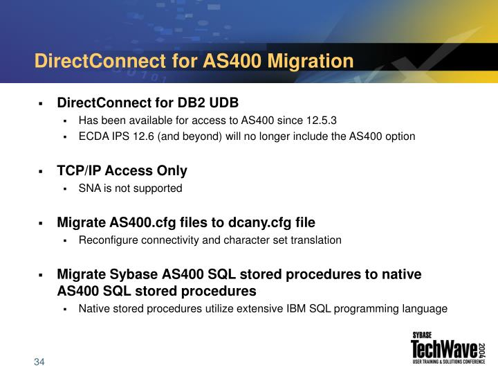 DirectConnect for AS400 Migration