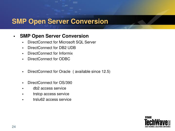 SMP Open Server Conversion
