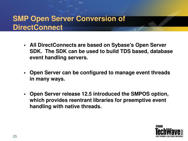 SMP Open Server Conversion of DirectConnect