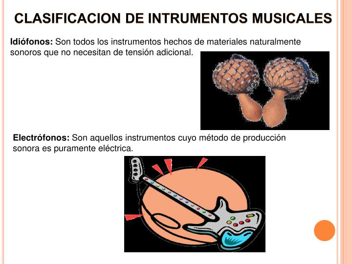 CLASIFICACION DE INTRUMENTOS MUSICALES