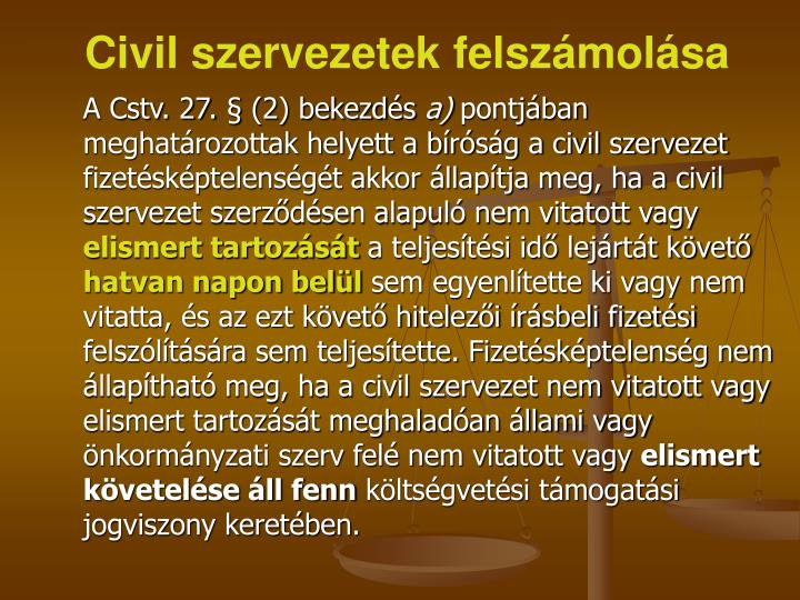 Civil szervezetek felszámolása