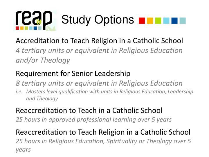 Study Options