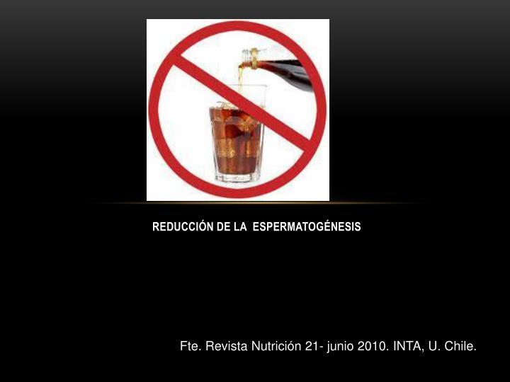 REDUCCIÓN DE LA  ESPERMATOGÉNESIS