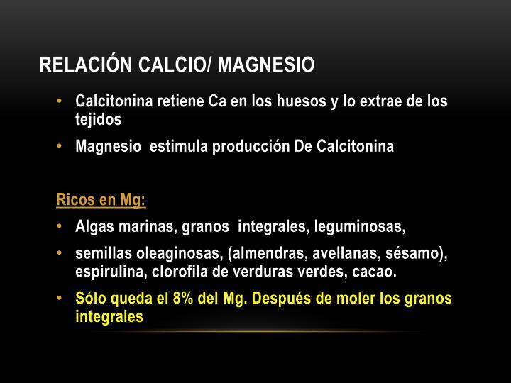 Relación Calcio/ magnesio